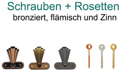 Schrauben + Rosetten