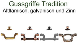 traditionelle Gussgriffe