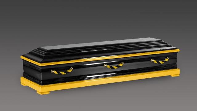 Sarg Eiche gelb schwarz abgesetzt