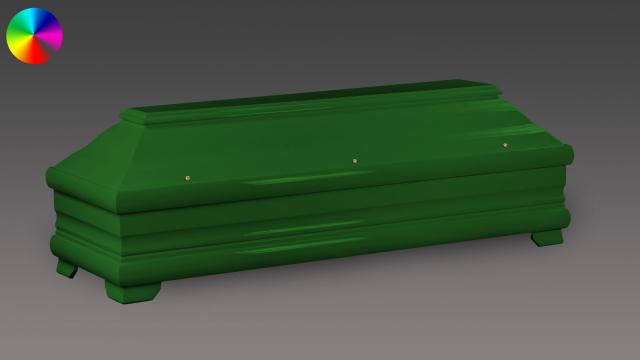 Sarg Smaragdgrün