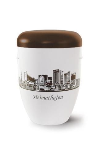 Urne Heimathafen Hamburg Braun weiss