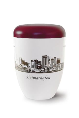 Urne Heimathafen Hamburg rot weiss