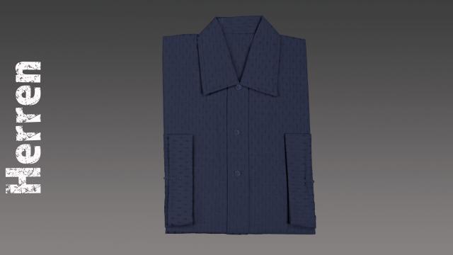 Sterbehemd Herren blau passend zur DESA