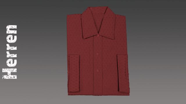 Sterbehemd Herren rot passend zur DESA