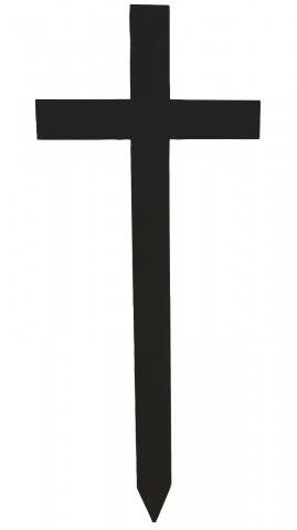 Grabkreuz schwarz