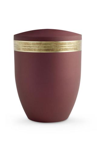 Urne rubin Krypta Dekor altgold