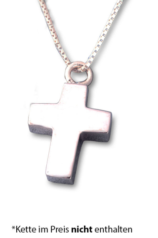 Asche Anhänger Kreuz Silber