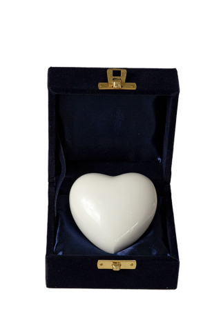 Miniurne Herz Perlmutt