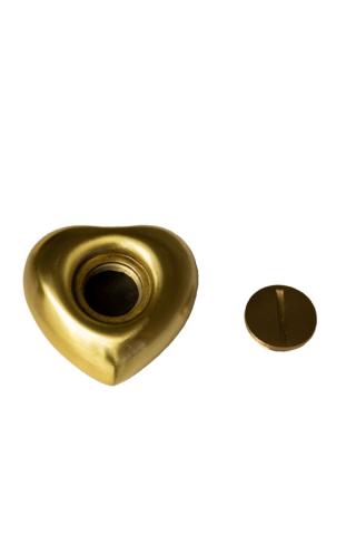 Miniurne Herz Gold gebürstet