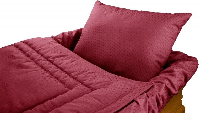 Decke Sargausschlag 4-teilig, rot