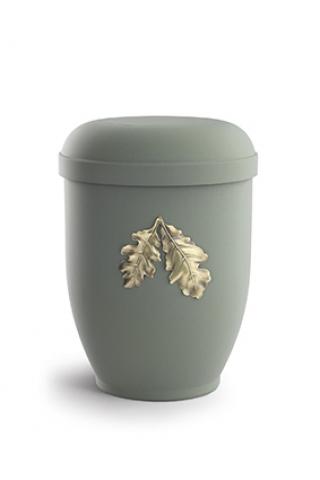 Naturstoffurne Samton oliv, Motiv Eichenblätter