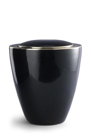 Keramikurne tiefschwarz glänzend