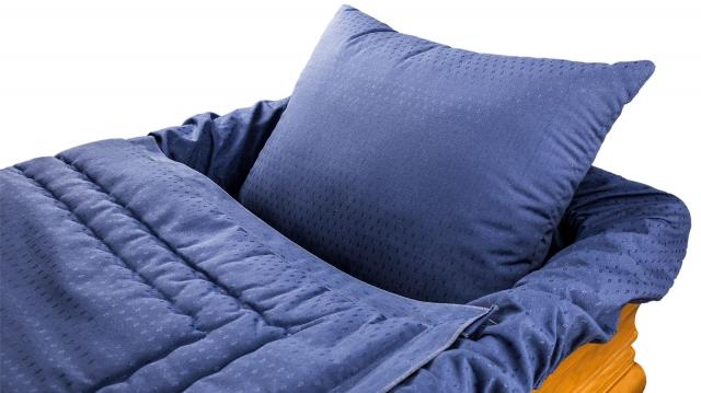 Decke Sargausschlag 4-teilig, blau