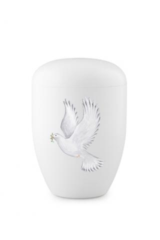 Weiße Biourne weiße Taube