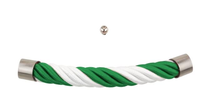 Sarg-Fan-Beschlag in grün und weiß