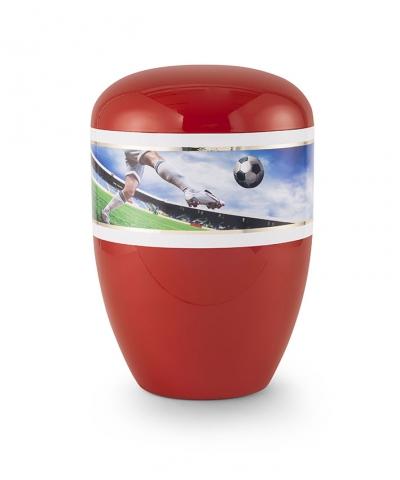 Bio Urne Fanfarben Motiv Fussball
