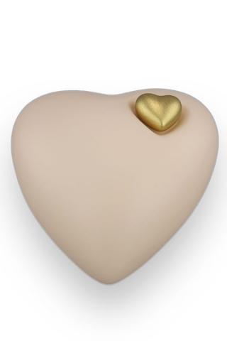 Herzurne Sandbeige mit goldenem Herzen