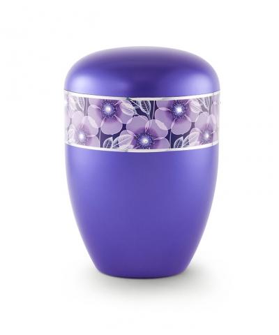 Bio Urne violett florales Dekor