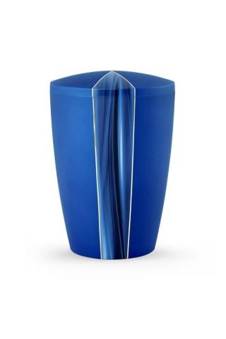 Urne Samton blau Kaskade Motiv