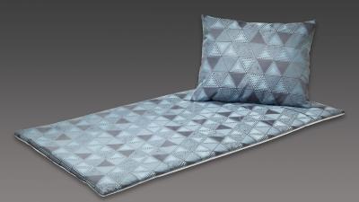 Deckengarnitur türkis-grau mit Dreiecken