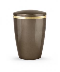 Design Urne hellbraun Goldstreifen