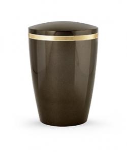 Design Urne braun Goldstreifen