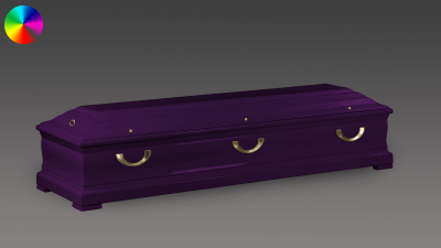 Sarg Eichenholz Violett