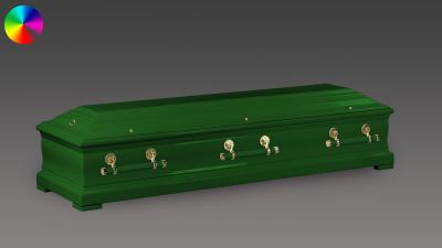 Sarg Eichenholz Smaragdgrün
