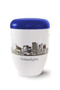 Urne Heimathafen Hamburg Blau weiss