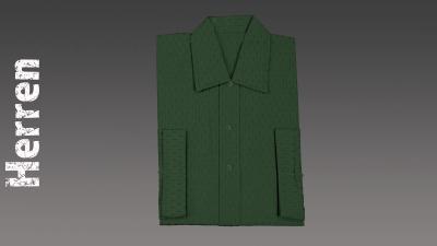 Sterbehemd Herren grün passend zur DESA