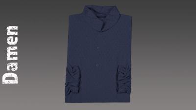 Sterbehemd Damen blau passend zur DESA