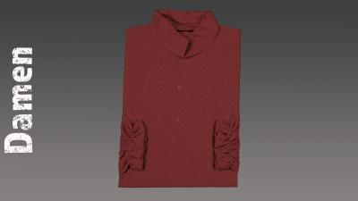 Sterbehemd Damen rot passend zur DESA