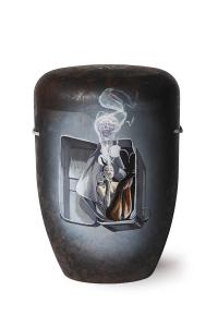 Urne Tattoos rauchende Frau