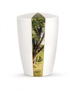 Bio Urne Perlmutt Baum