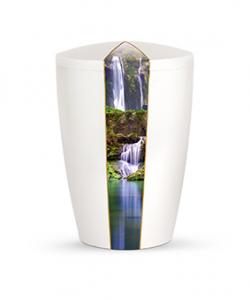 Bio Urne Perlmutt Wasserfall