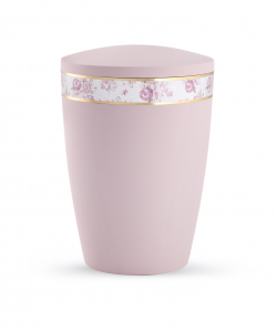 Urne rosa Pastell Motiv Rosen