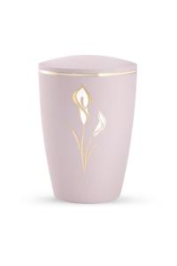 Urne rosa Pastell Dekor Calla