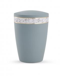 Urne grau Pastell Blätter Dekorband