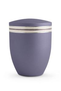 Bio Urne Lavendel Krypta Perlmutt Zierband