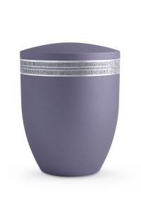 Naturstoff Urne Lavendel Krypta grobes Zierband