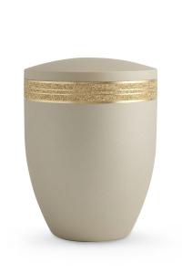 Urne Champagner Krypta goldenes Glitzerband