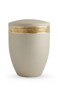 Urne Champagner Krypta altgoldenes Strukturband