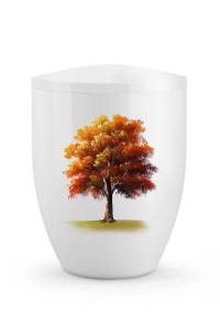 Urne Herbst Ahornbaum Edition Silva