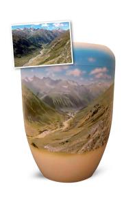 Urne individuell Motiv Berglandschaft