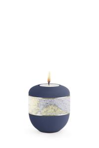 Kleinurne marine blau Seekarte mit Teelicht