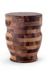 Walnuss Urne Hirnholz Amphore Oberfläche geölt