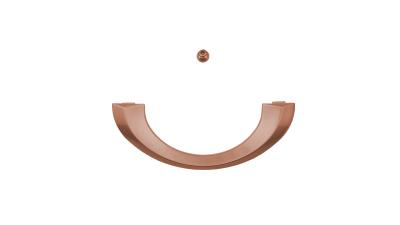 Sarggriffe halbrund Kupfer