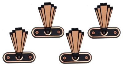 Sargschrauben und Rosetten bronziert 4x