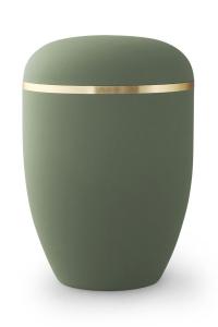 Bio Urne olivgrün Goldband