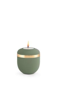 Miniurne mit Teelicht oliv samton